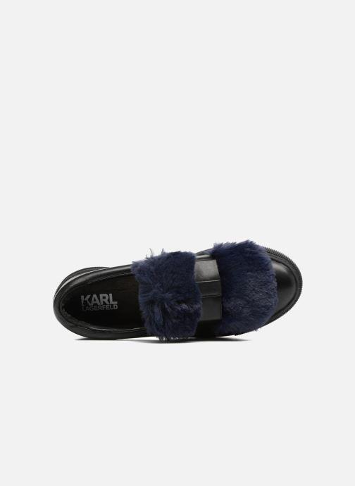 Sneakers Karl Lagerfeld Luxor Kup PomBow Slip On Nero immagine sinistra