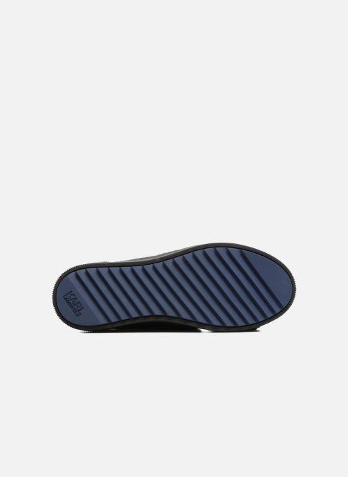 Sneakers KARL LAGERFELD Luxor Kup PomBow Slip On Svart bild från ovan