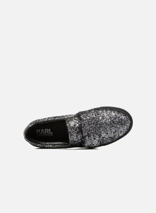 Sneakers Karl Lagerfeld Kupsole Bow Slip On Grigio immagine sinistra
