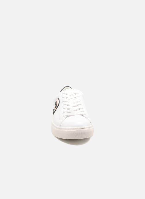 Baskets KARL LAGERFELD Kupsole Karl Ikonik Lo Lace Blanc vue portées chaussures