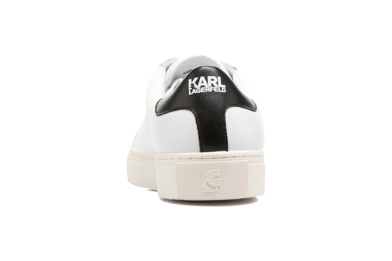 Baskets KARL LAGERFELD Kupsole Karl Ikonik Lo Lace Blanc vue droite