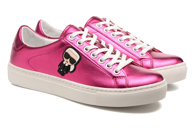Sneakers KARL LAGERFELD Kupsole Karl Ikonik Lo Lace Rosa immagine 3/4