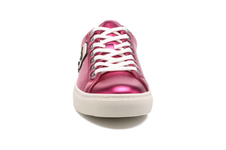 Sneakers KARL LAGERFELD Kupsole Karl Ikonik Lo Lace Rosa modello indossato