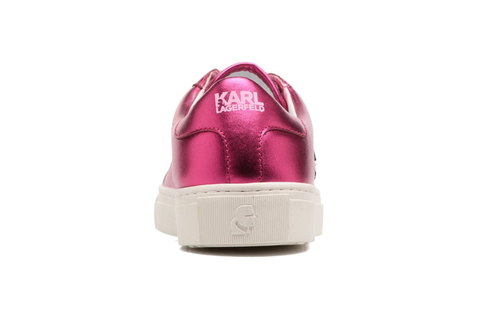 Trainers KARL LAGERFELD Kupsole Karl Ikonik Lo Lace Pink view from the right