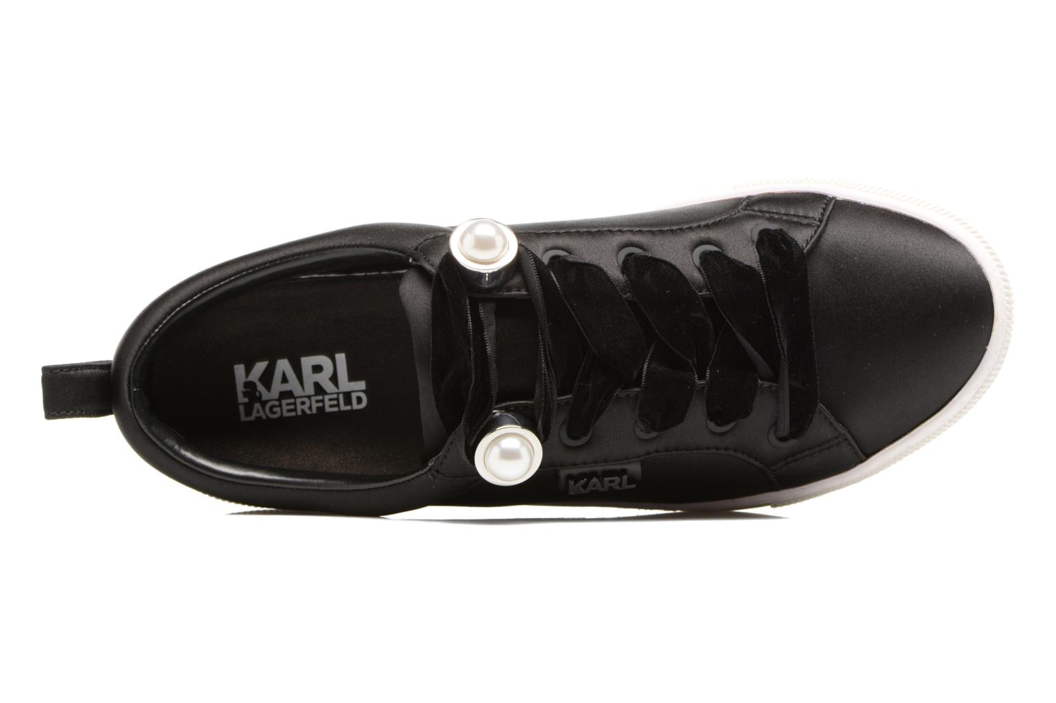 Trainers KARL LAGERFELD Luxor Kup Lace Shoe Black view from the left