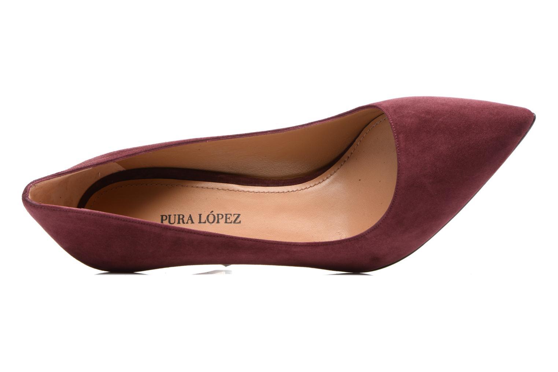 Zapatos de tacón Pura Lopez ZAAK117 Rojo vista lateral izquierda