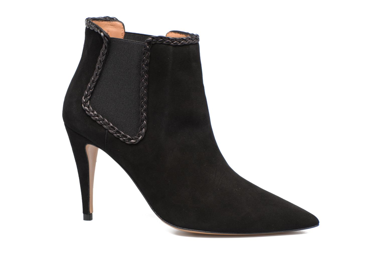 Ankle boots Pura Lopez BNAL160B Black detailed view/ Pair view