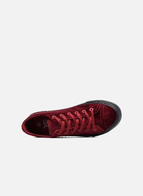 Baskets I Love Shoes THYSAL Bordeaux vue gauche