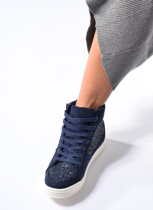 Baskets I Love Shoes THALEP Bleu vue bas / vue portée sac