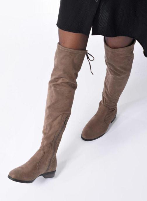 Bottes I Love Shoes THALMA Marron vue bas / vue portée sac
