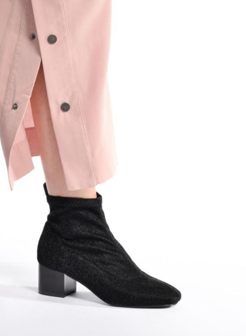Ankle boots I Love Shoes THIMO Black view from underneath / model view