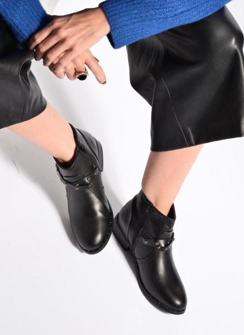 Ankle boots I Love Shoes THIMET Black view from underneath / model view