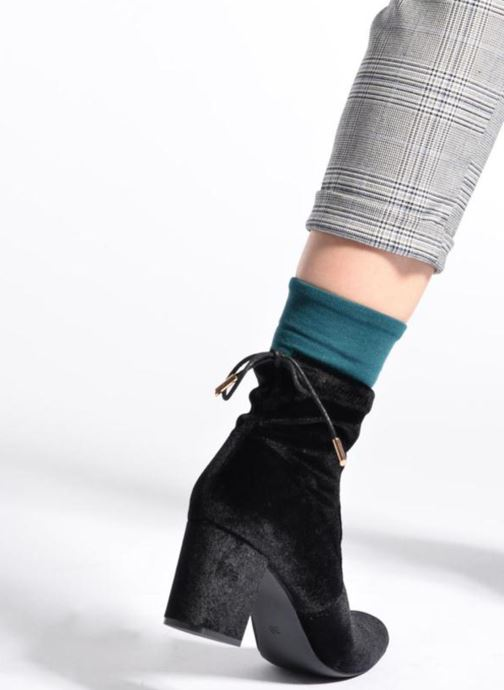Ankle boots I Love Shoes THRESSY Black view from underneath / model view
