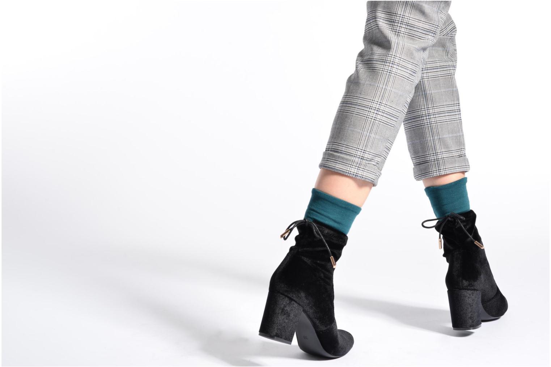 Bottines et boots I Love Shoes THRESSY Bordeaux vue bas / vue portée sac