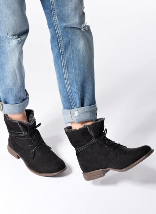 Bottines et boots I Love Shoes THABLEAU Fourrée Noir vue bas / vue portée sac