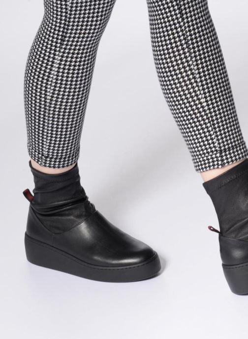 Bottines et boots Clergerie Teniera Noir vue bas / vue portée sac
