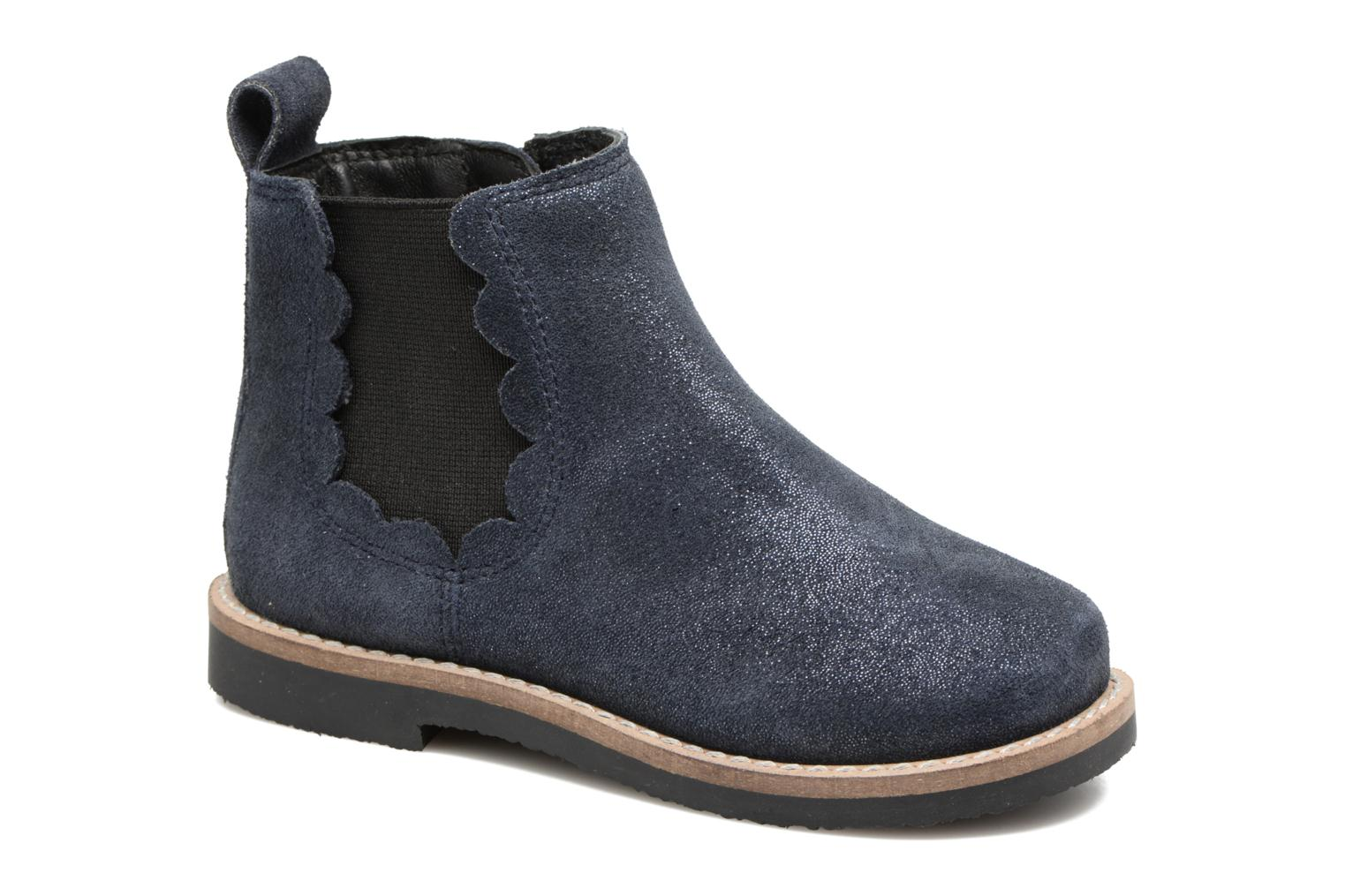 Ankle boots I Love Shoes SELIME LEATHER Blue detailed view/ Pair view
