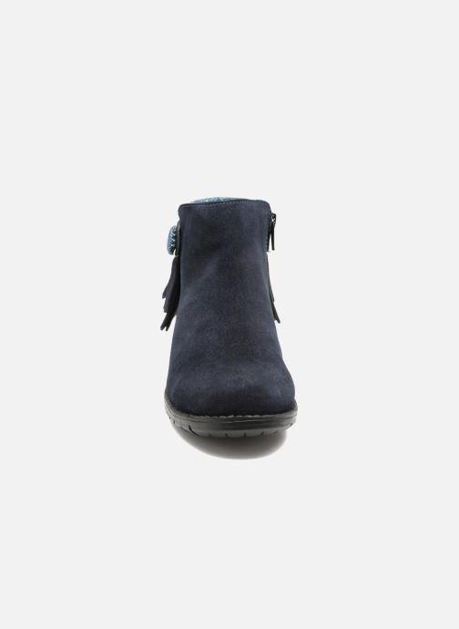 Stivaletti e tronchetti I Love Shoes SYNDA LEATHER Azzurro modello indossato