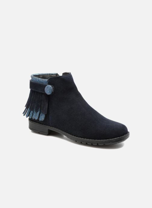 Ankle boots I Love Shoes SYNDA LEATHER Blue detailed view/ Pair view
