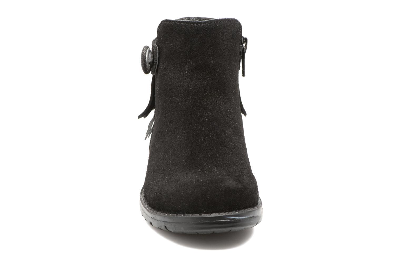 Stivaletti e tronchetti I Love Shoes SYNDA LEATHER Nero modello indossato
