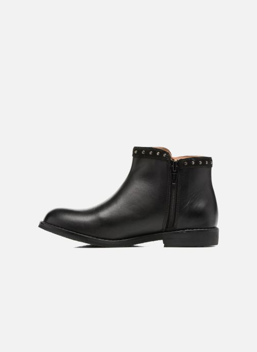 Ankle boots I Love Shoes SYBILLE LEATHER Black front view