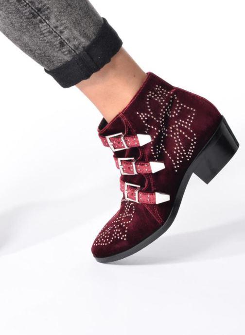 Bottines et boots Bruno Premi Bonnie Bordeaux vue bas / vue portée sac