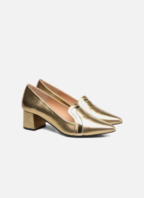 Escarpins Made by SARENZA Shoe Officer #1 Or et bronze vue derrière