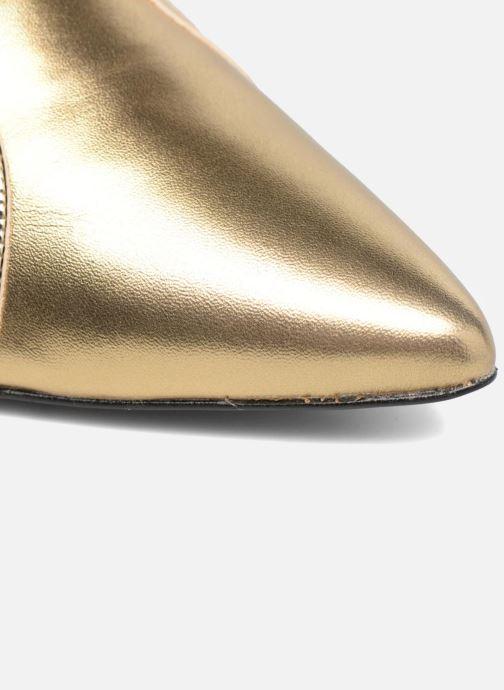 Escarpins Made by SARENZA Shoe Officer #1 Or et bronze vue gauche