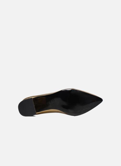 Escarpins Made by SARENZA Shoe Officer #1 Or et bronze vue haut