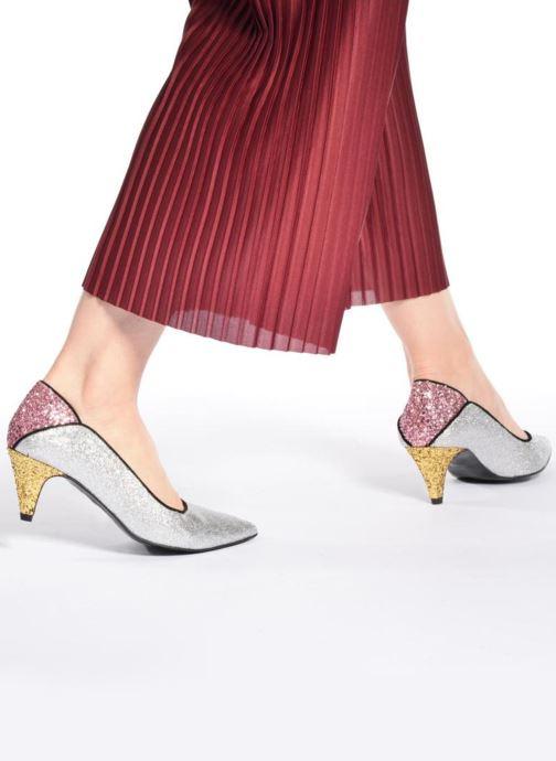 Zapatos de tacón Made by SARENZA Crazy Seventy #4 Plateado vista de abajo
