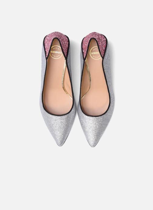 Zapatos de tacón Made by SARENZA Crazy Seventy #4 Plateado vista del modelo