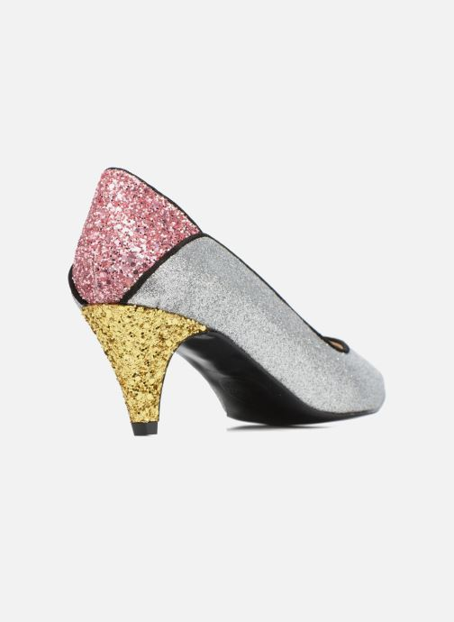 Zapatos de tacón Made by SARENZA Crazy Seventy #4 Plateado vista de frente