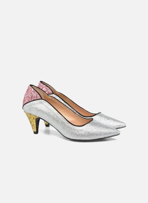 Zapatos de tacón Made by SARENZA Crazy Seventy #4 Plateado vistra trasera
