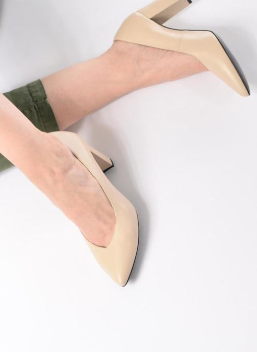 High heels Made by SARENZA Crazy Seventy #5 Beige view from underneath / model view