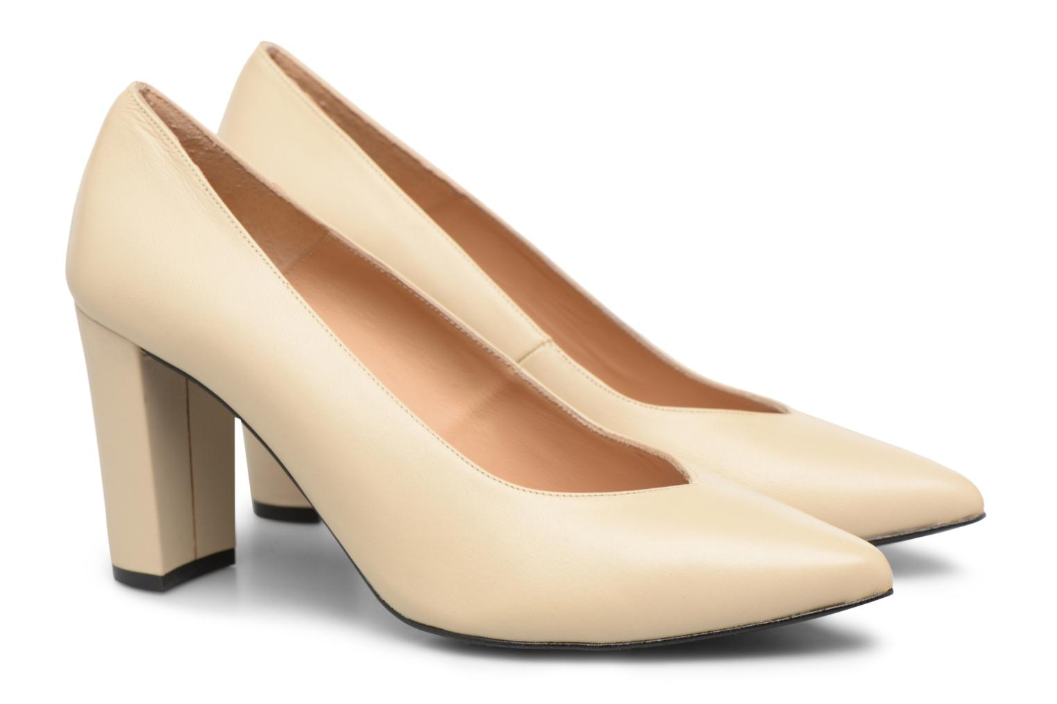 High heels Made by SARENZA Crazy Seventy #5 Beige back view