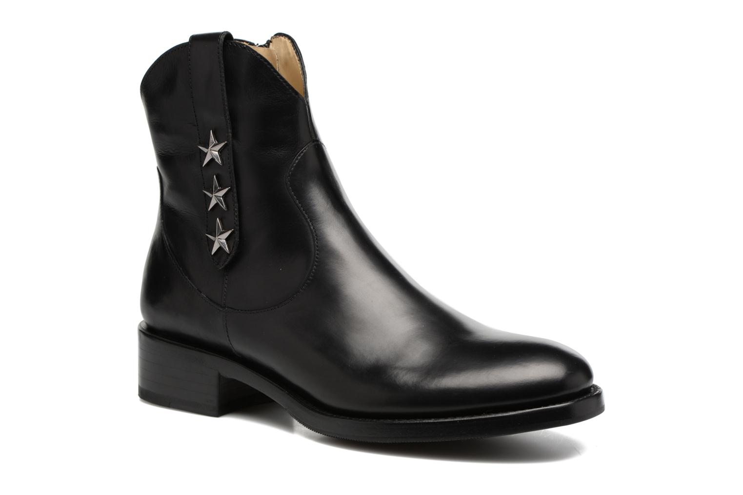 Bottines et boots Free Lance Mansory 4 West Zip Boot Star Noir vue détail/paire