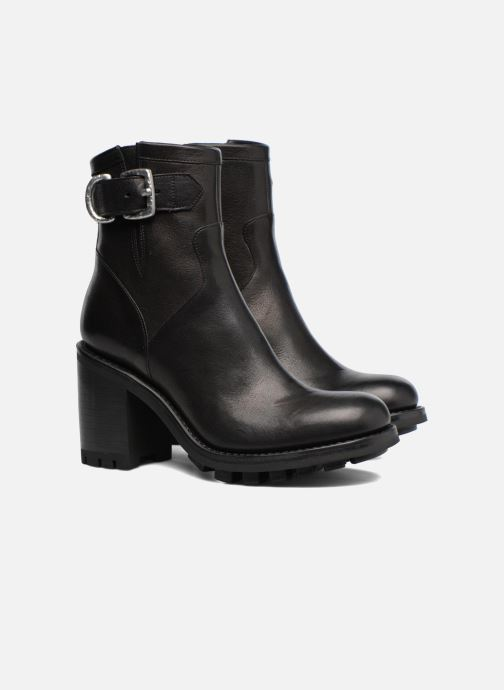 Ankle boots Free Lance Justy 9 Small Gero Buckle Black 3/4 view
