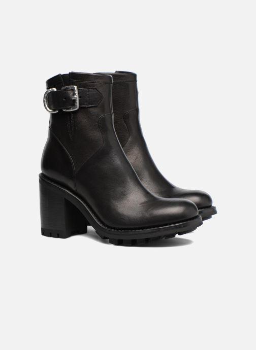 Bottines et boots Free Lance Justy 9 Small Gero Buckle Noir vue 3/4