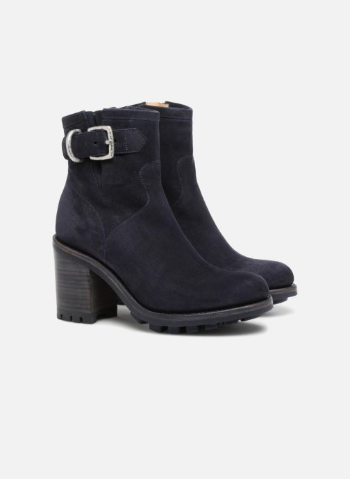 Bottines et boots Free Lance Justy 9 Small Gero Buckle Bleu vue 3/4
