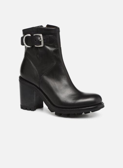Bottines et boots Free Lance Justy 9 Small Gero Buckle Noir vue détail/paire