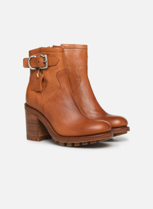 Bottines et boots Free Lance Justy 9 Small Gero Buckle Marron vue 3/4