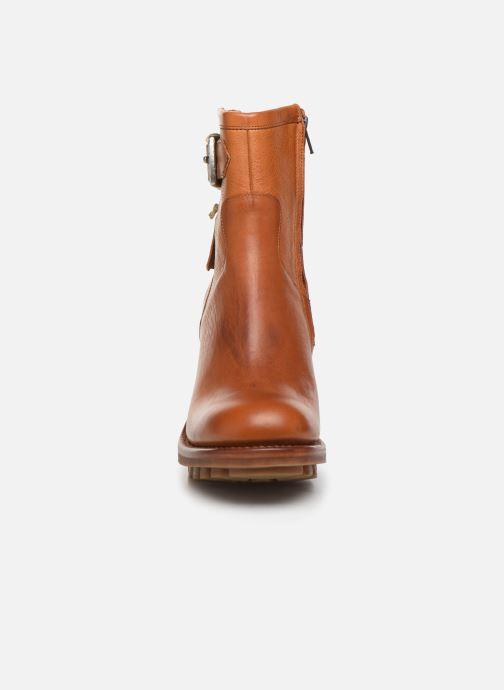 Bottines et boots Free Lance Justy 9 Small Gero Buckle Marron vue portées chaussures