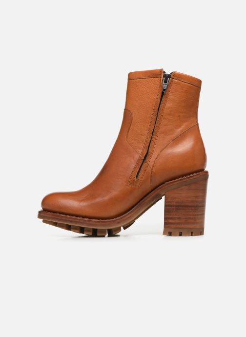 Bottines et boots Free Lance Justy 9 Small Gero Buckle Marron vue face