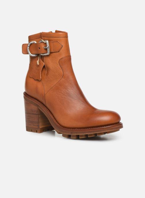 Bottines et boots Free Lance Justy 9 Small Gero Buckle Marron vue détail/paire