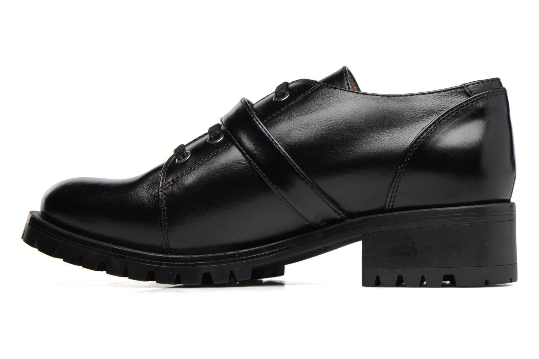 Zapatos con cordones Unisa Inmole Negro vista de frente