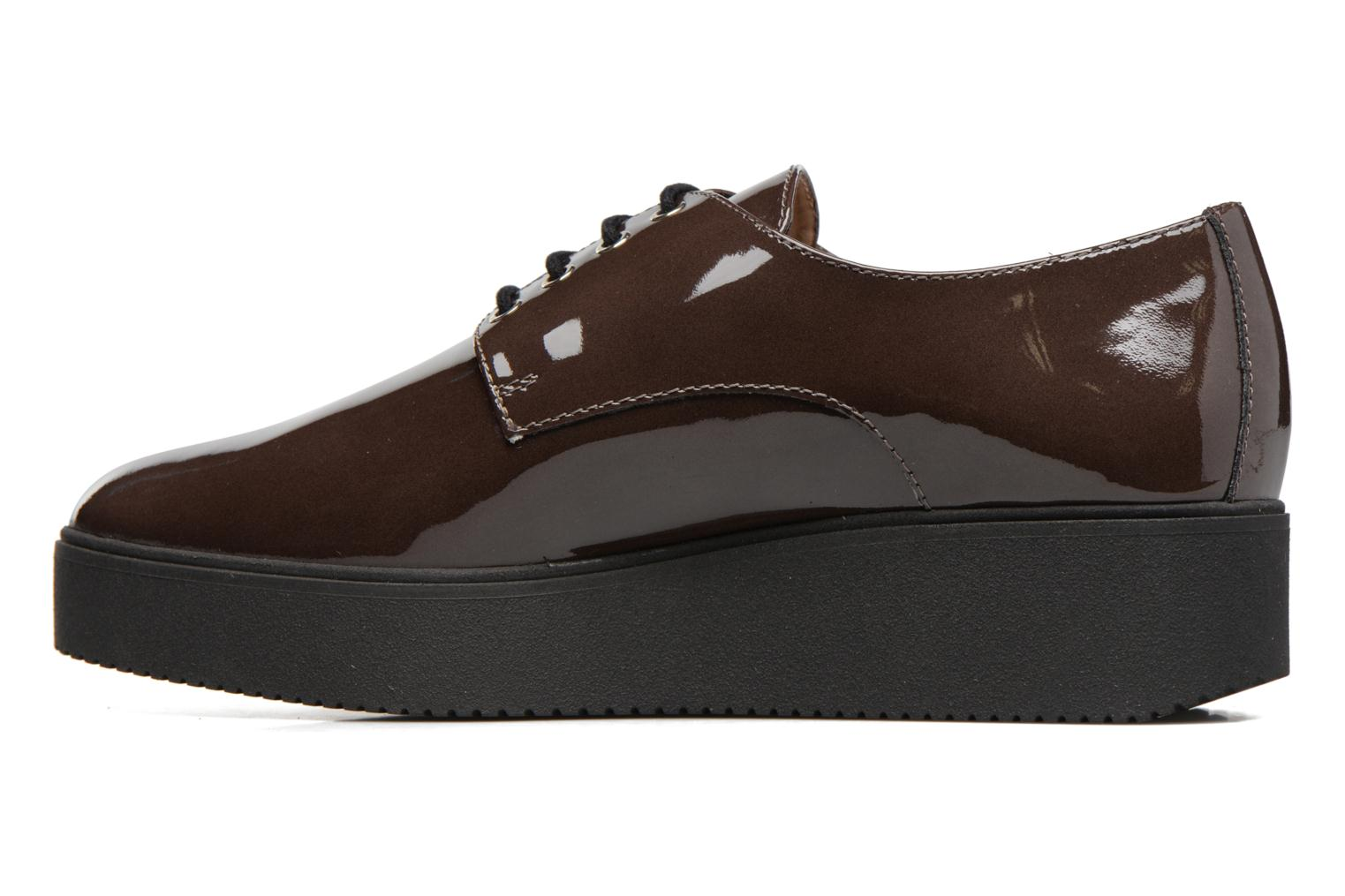 Lace-up shoes Unisa Caler Brown front view