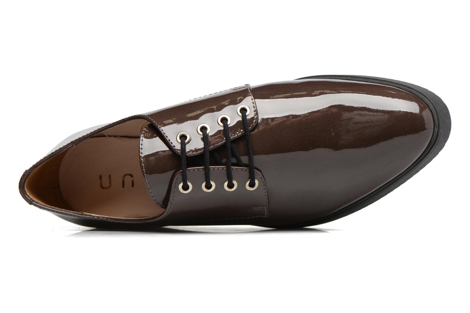 Lace-up shoes Unisa Caler Brown view from the left