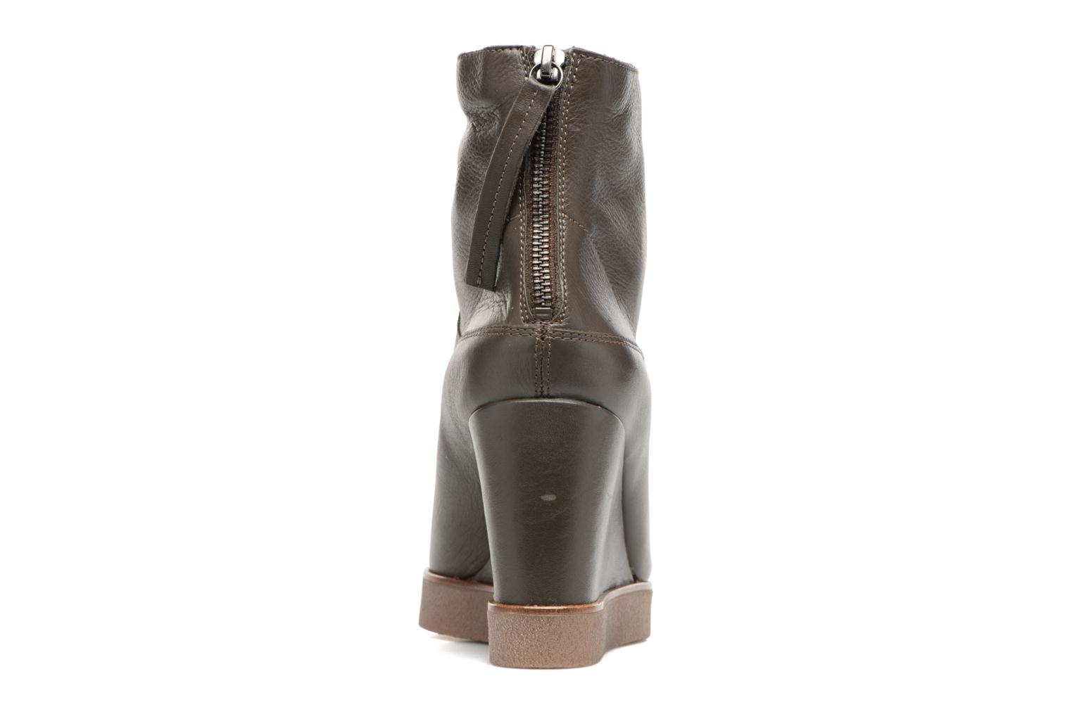 Ankle boots Unisa Galeni Brown view from the right