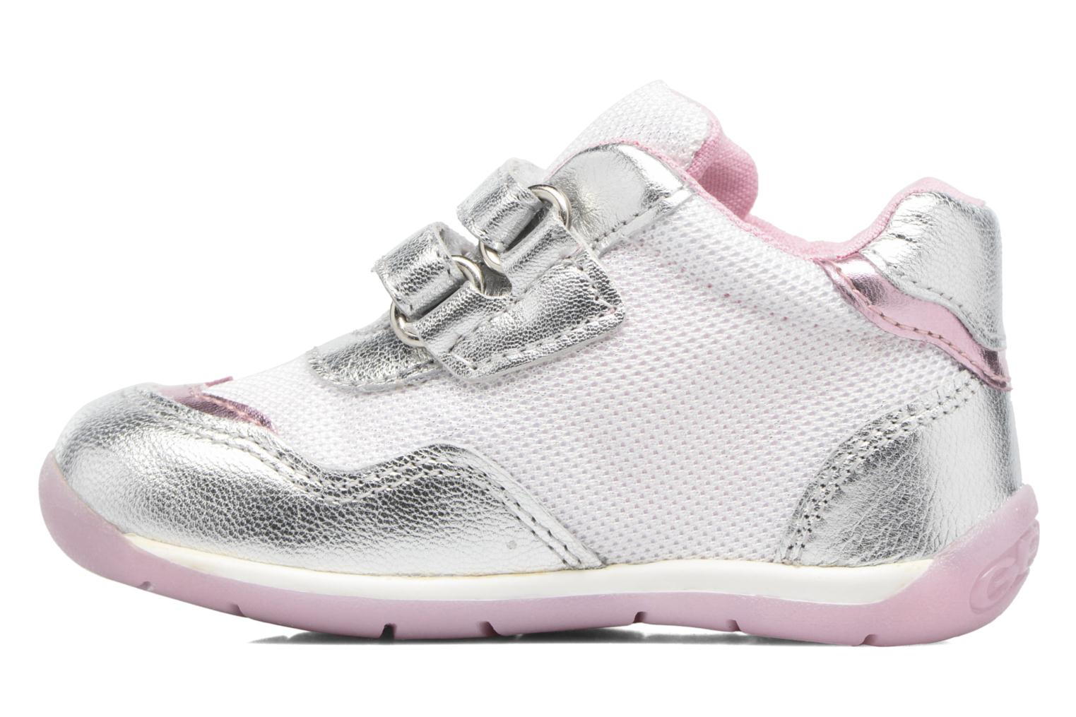 Trainers Geox B EACH GIRL E Silver front view