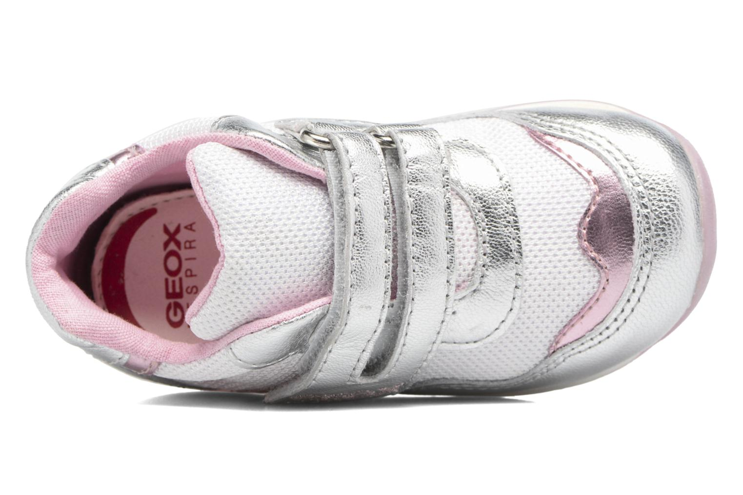 Sneakers Geox B EACH GIRL E Zilver links